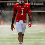 Keith McGill takes the field during the University of Utah&#039;s Red-White Spring football game, Saturday April 20, 2013 in Salt Lake City.